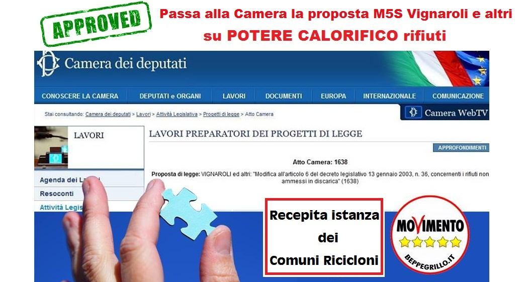 Approvata proposta M5S/Vignaroli