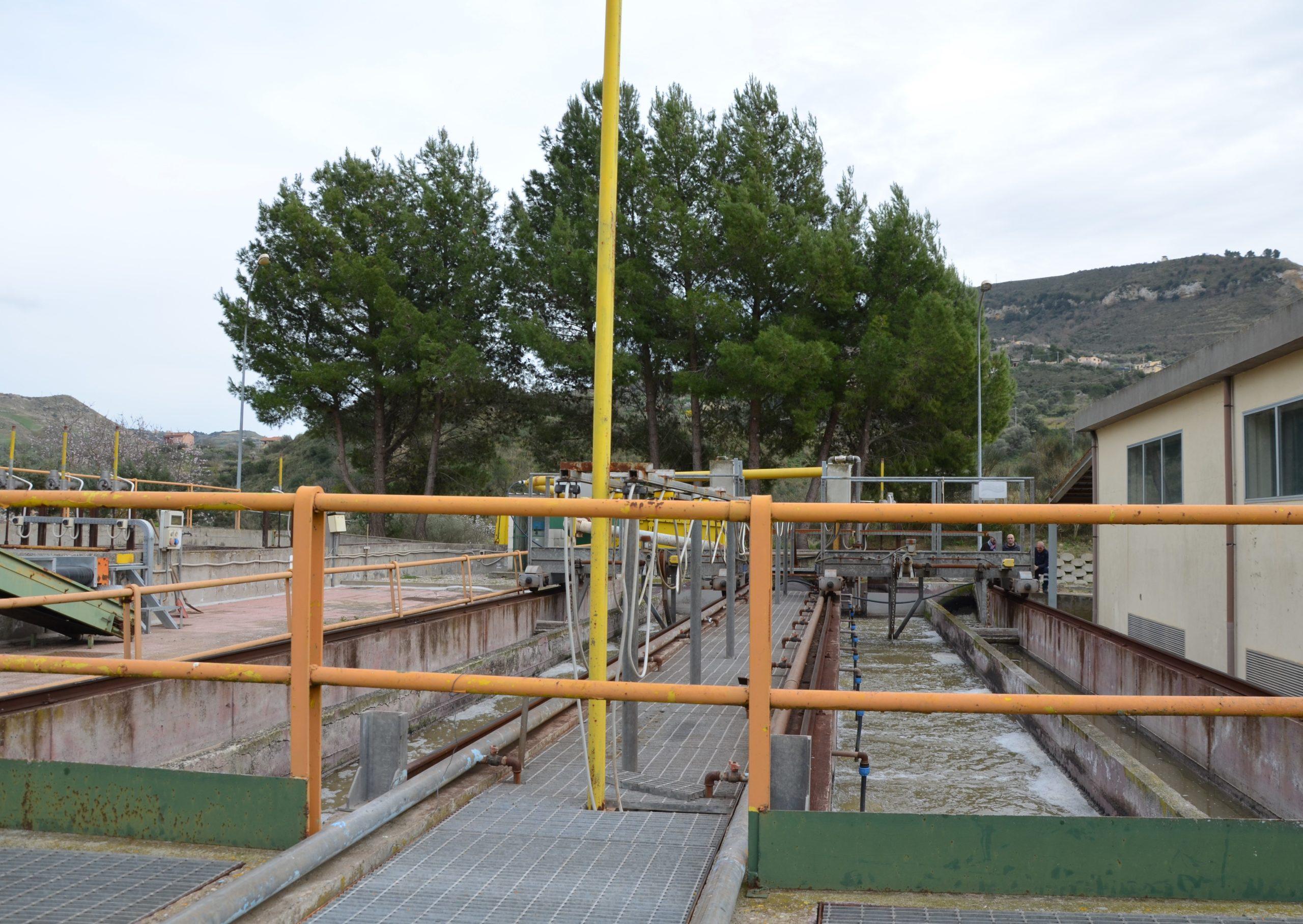 missione della commissione Ecomafie in Sicilia sopralluogo a depuratore