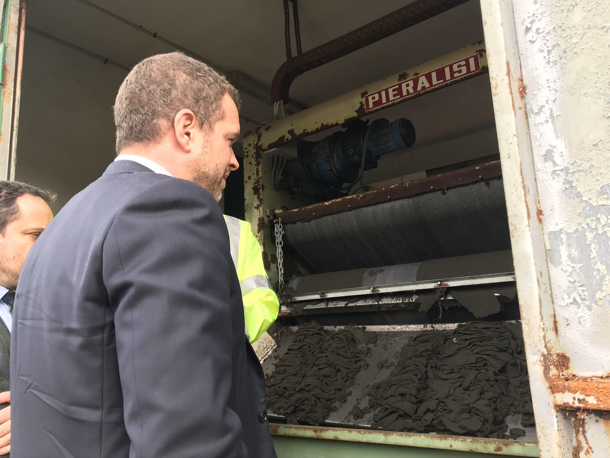 Sopralluogo della Commissione Ecomafie in un impianto di depurazione della Sicilia centrale